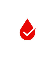 blood sauce drop check logo icon vector image