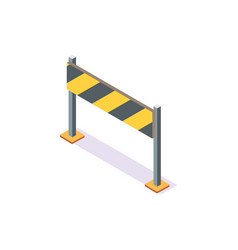 Board with stripes traffic road sign stop icon vector