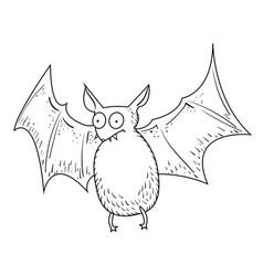 Cartoon image of halloween bat vector