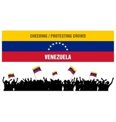 Cheering or Protesting Crowd Venezuela vector image