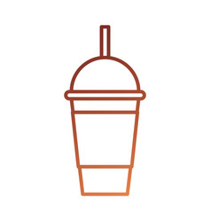 Coffee for takeaway cold frappe straw drink vector