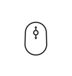 Contour simple black scrolling icon vector