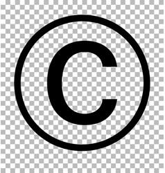 Copyright symbol on transparent background vector