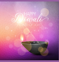 diwali lights background vector image