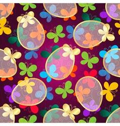 Easter dark purple Seamless Pattern vector image