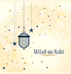 Eid milad un nabi barawafat festival greeting vector