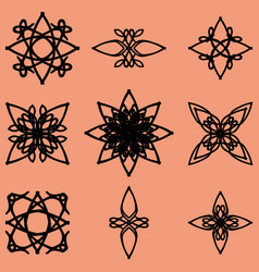 ethnic monograms and calligraphic objects vector image