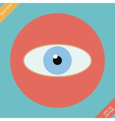 Eye icon - Flat design vector image vector image