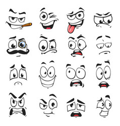 Face expression isolated facial emoji icons vector