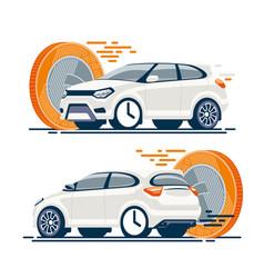 Fast car sale coin vector