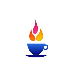 Flame coffee logo vector