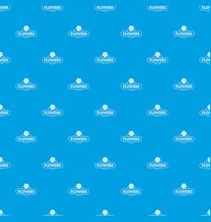 flower farm pattern seamless blue vector image