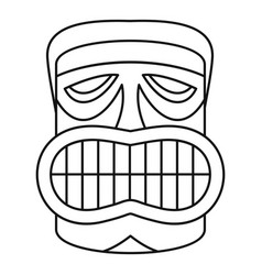 hawaii idol face icon outline style vector image