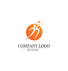 health success people care logo and symbols vector image