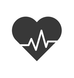 Heart beat ecg line healthcare and medical vector