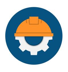 helmet with gear vector image