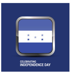 honduras glossy button independence day background vector image