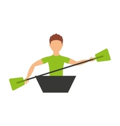 Kayak sport isolated icon design vector