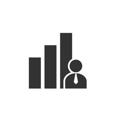 key performance indicator icon design template vector image