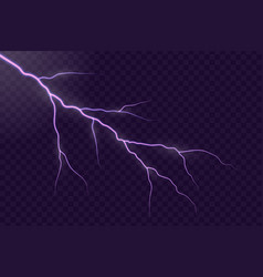 lightning electric thunder vector image
