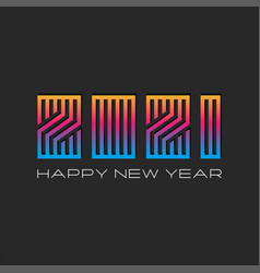 logo 2021 gradient trendy monogram happy new year vector image