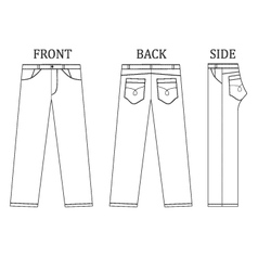 Long pant jeans vector image vector image
