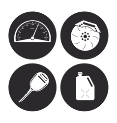 Machine icon set Auto part design graphic vector