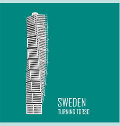 Malmo turning torso building vector