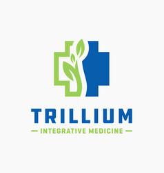 modern health clinic logo vector image