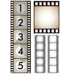 Movie and film design elements vector
