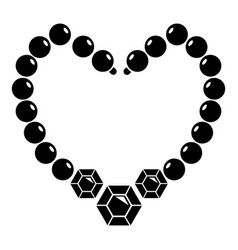 necklace icon simple black style vector image