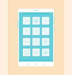 phone development closeup vector image