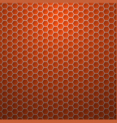 red background with hexagons vector image