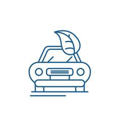 retro car line icon concept retro car flat vector image
