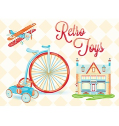 Retro toys vector