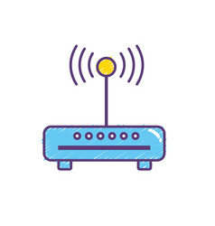 Router wifi connection network technology vector
