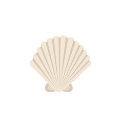 sea shell icon in cartoon style vector image