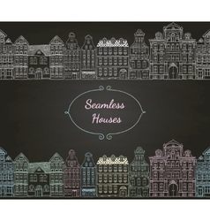 Seamless Old Styled Houses vector image