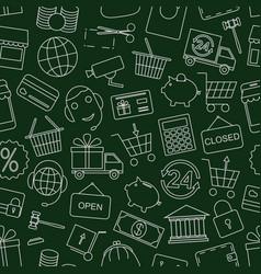 Seamless pattern business vector