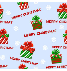 seamless pattern with cartoon christmas vector image