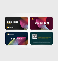 Set discount cards with abstract backdrop of vector