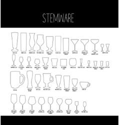 Set stemware vector