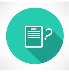 sheet with a question mark icon vector image