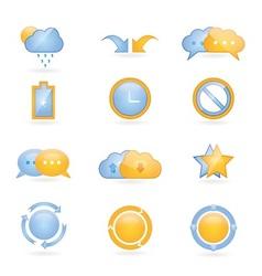 Shiny web icons vector image