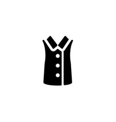 shirt no sleeves icon vector image