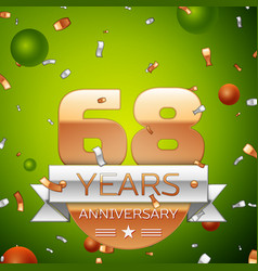 sixty eight years anniversary celebration design vector image
