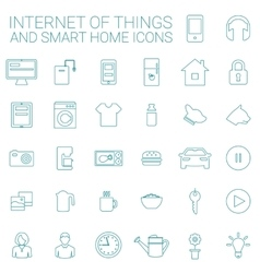 Smart home and internet of things icon set vector