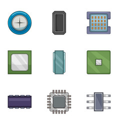 Soldering icons set cartoon style vector