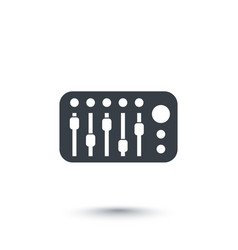 Sound mixer icon on white vector