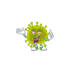 Super funny coronavirus spread in nerd mascot vector